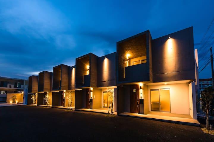 A号棟:戸建1棟貸切:ファミリーや友人などの大人数の宿泊に最適