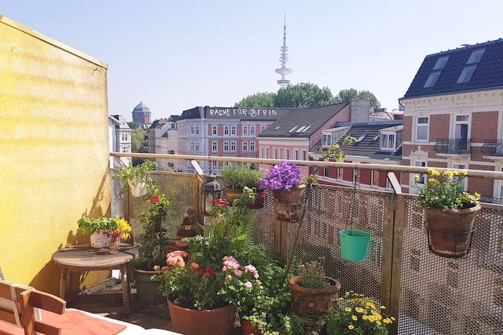 *SONNENBALKON* im Herzen Hamburgs (Schanze)