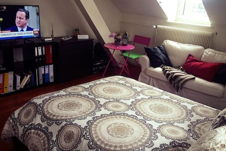 Spacious&Lovely Room in Downtown Montreux,Jazz - Montreux  - Apartment