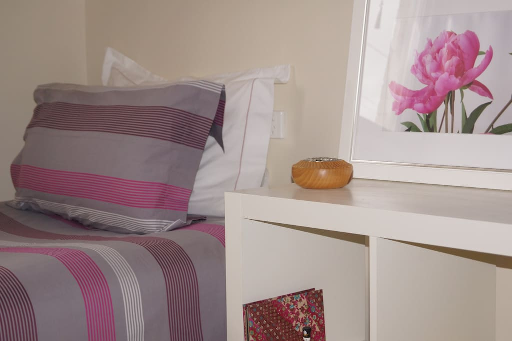 Room 1 - King single bed with quality bed linen