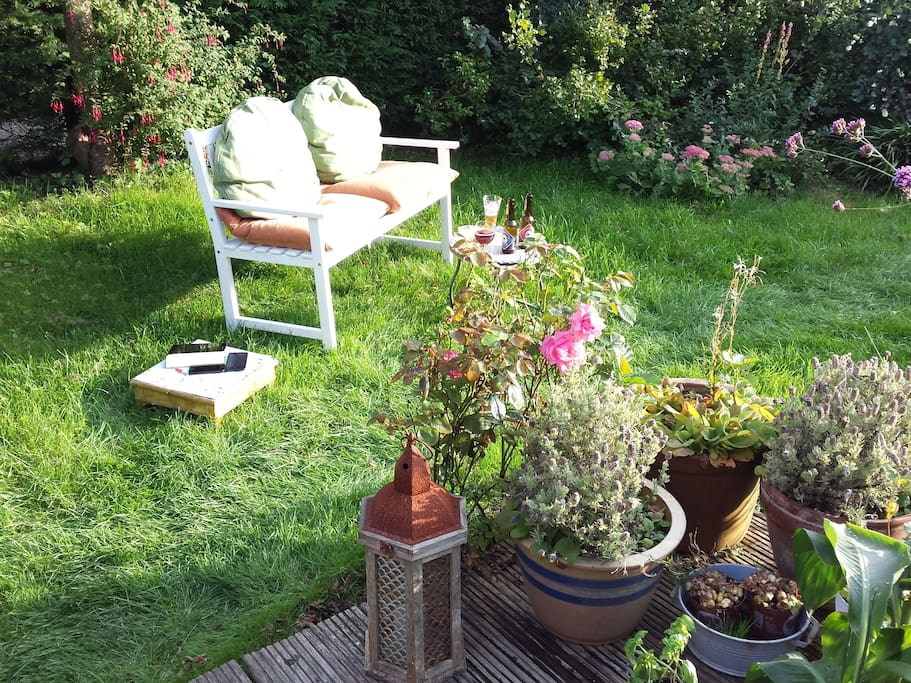 Elk plekje in de tuin heeft zijn eigen charme