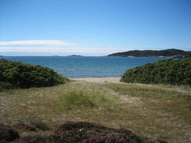Ferieleilighet ved strand Sørlandet - Lindesnes