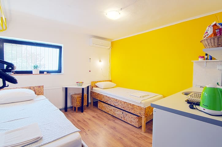 This is our studio apartment. First and most important house rule: enjoy yourself! :)