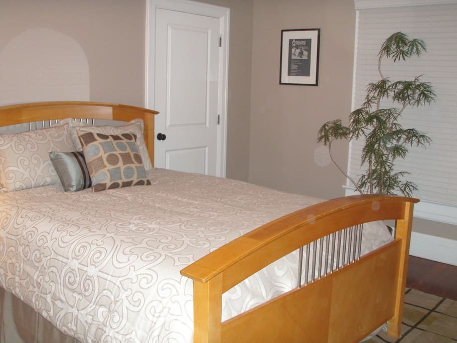 View of Bedroom with Super Comfy Queen Size Bed