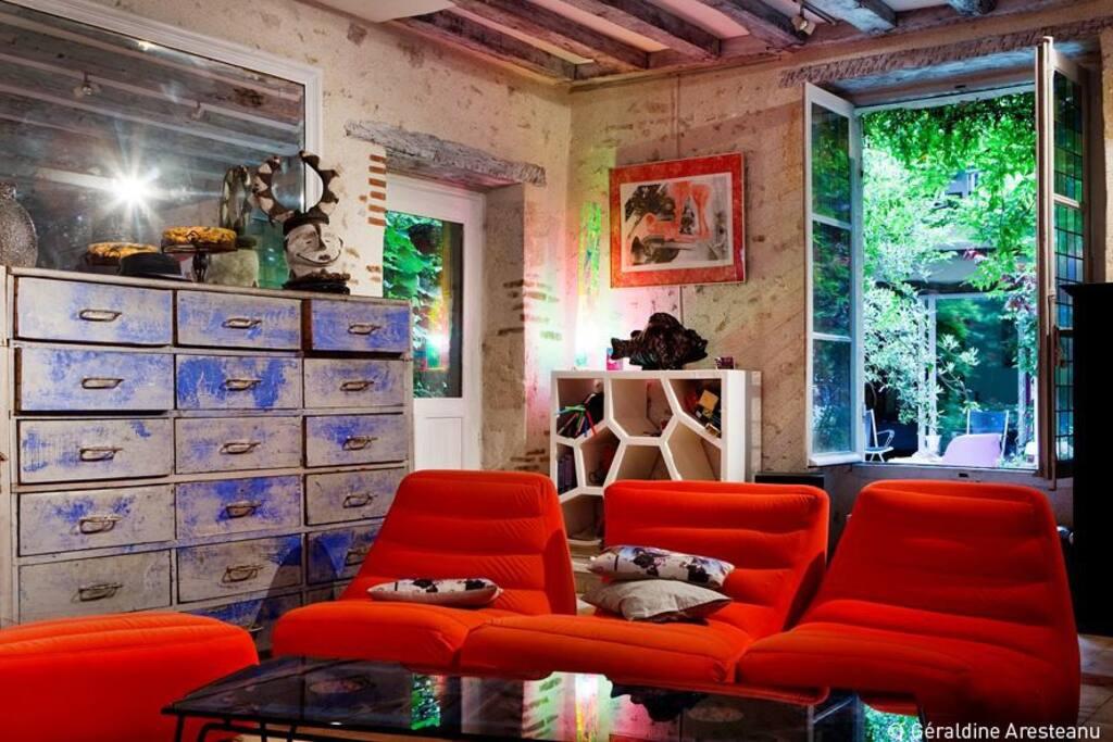 Maison sur cour en centre ville chambres d 39 h tes louer for Chambre d hotes orleans