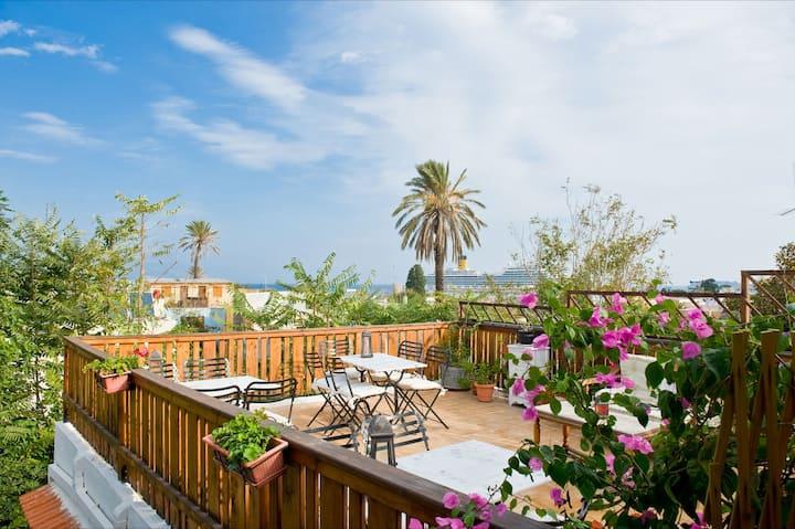 Studio in Old Town of Rhodes with Terrace & Garden