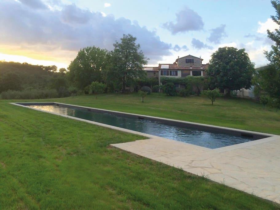 The 30 x 3,5 mt big swimming pool