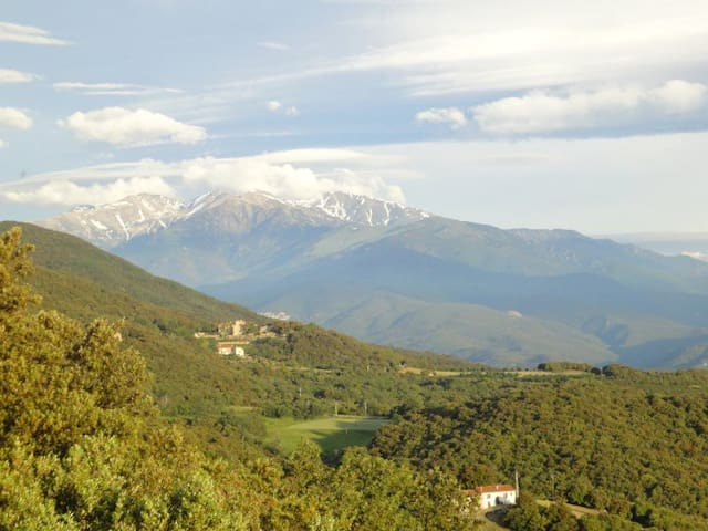 View from near the house of Canigou and the Vallespir Valley