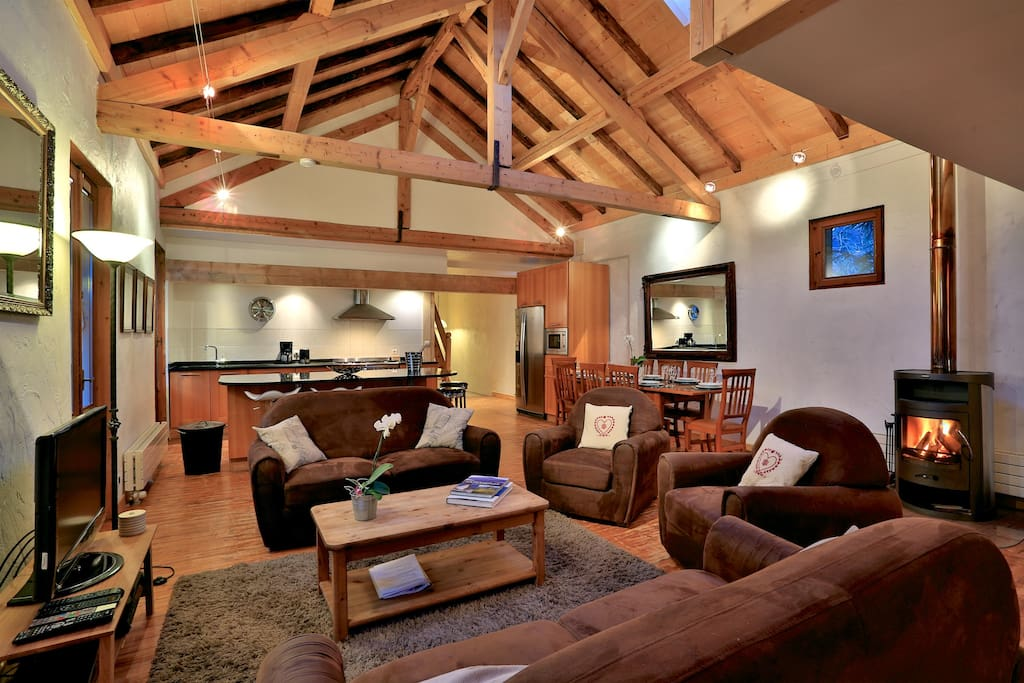 Chamonix centre loft 4 chambres appartements louer for Chambre 9 chamonix