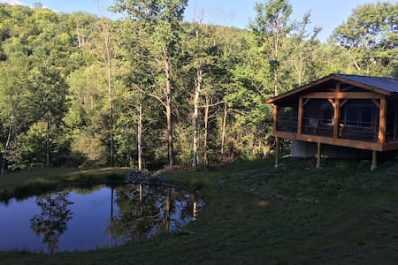 Private-Acreage   Mountain Vermont Deer Cabin