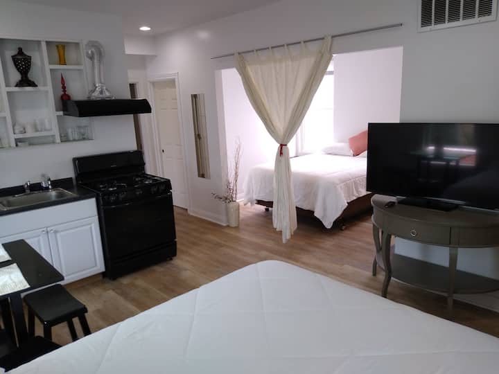 Private 2nd. fl unit with free parking!