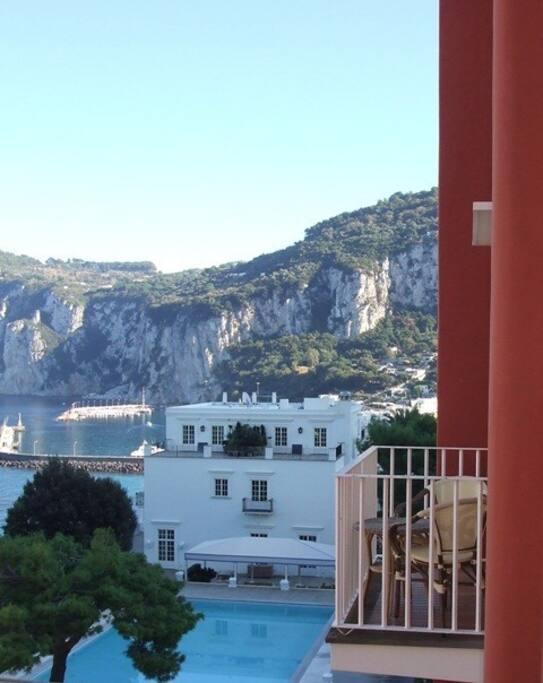 Balcone con vista su Marina Grande