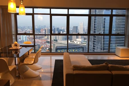 Panoramic View Modern City Apartment - Singapur - Apartament
