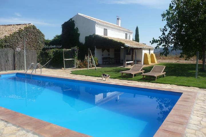 Typical Andalusian cortijo featuring private pool close to Granada.