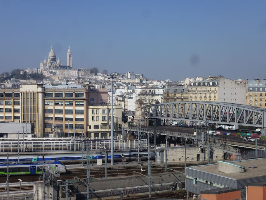 Vue ouest gare du Nord et Sacré Coeur