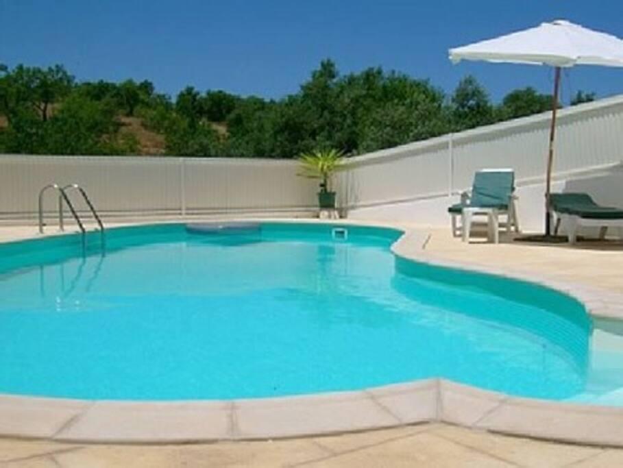 A beautiful shared pool area