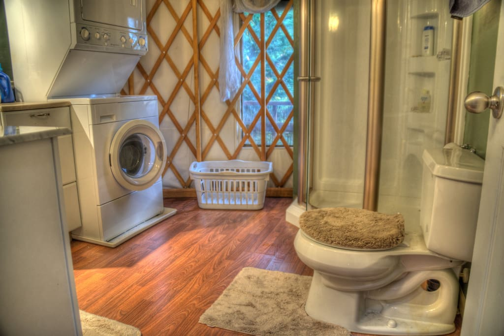 Bathroom (with laundry and shower) - all the comforts of home!