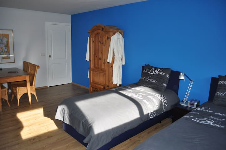 B&B Groenewege: Spacious blue room