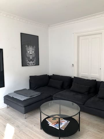 Cozy couch in livingroom