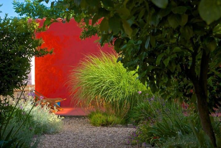 Charming house, luxurious garden, free WiFi