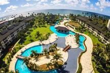Foto aérea do resort