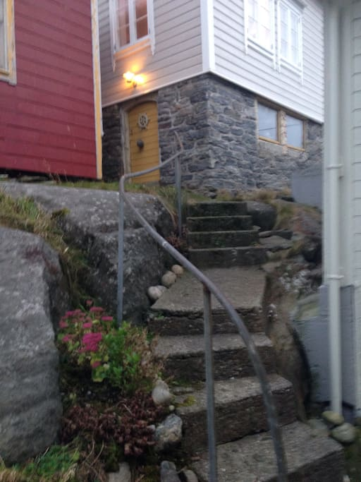 The stairs up to our house