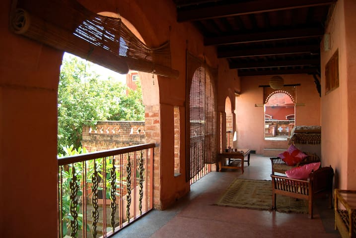 Semi private space on the first floor, direct access to the central courtyard of the house.