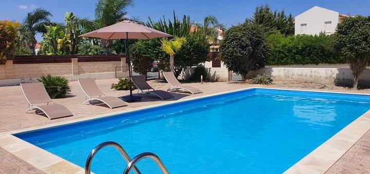 Seaside Home in Pervolia, Sleeps 6 - Private pool