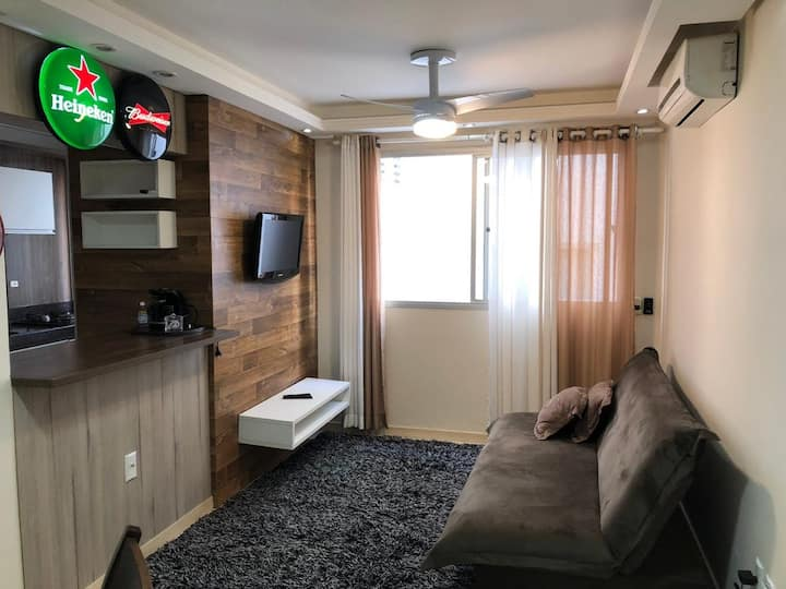 Apartamento completo 4 pessoas, 50 metros do mar!!
