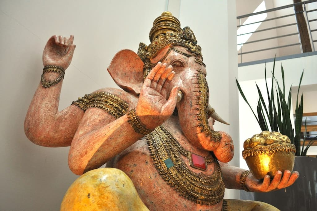 Ganesha has an open ear for all your requests...