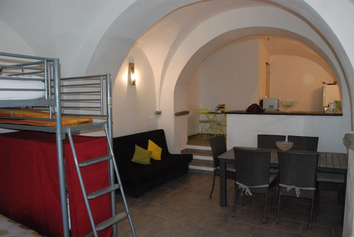 Studio de 50 m2 jardin vue mer - Pino - Pis