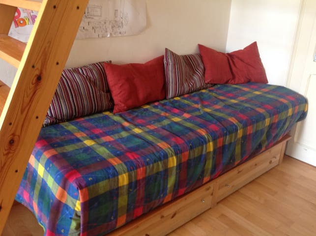 Loft bed in nice room