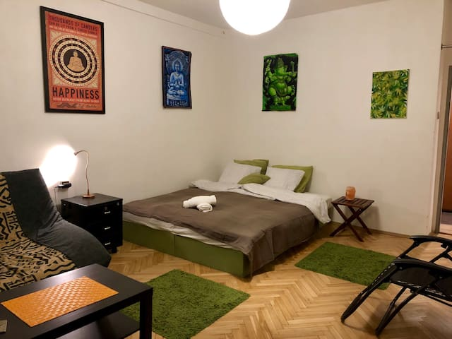 Perfectly located apartment with balcony,Prague2