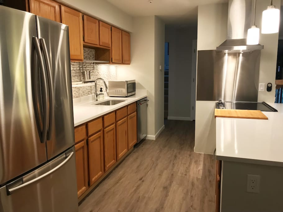 Fully renovated kitchen with brand new appliances