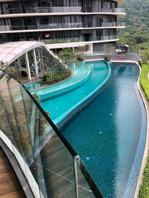 Penang Arte S Luxury pool view