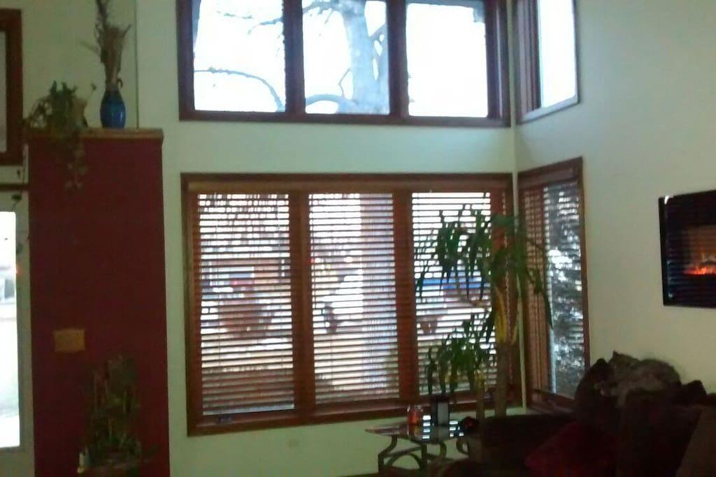 Beautiful windows and natural sunlight