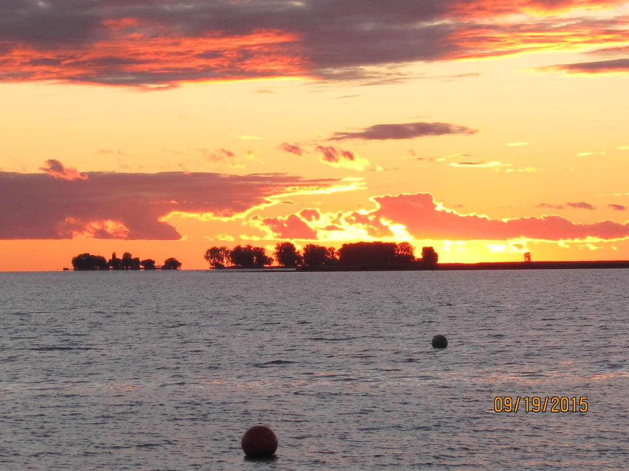 Enjoy the sunsets on your boat or along the shore in Mitchell's Bay.