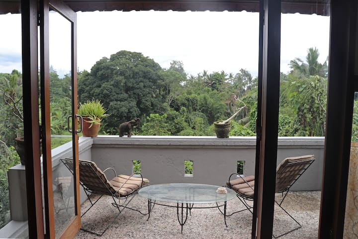Ubud center - Loft w/ rice fields and jungle views