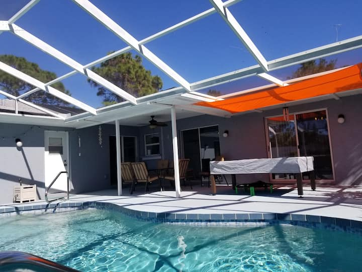 Seas The Day! 3 bedroom. 2 bath, heated pool  home