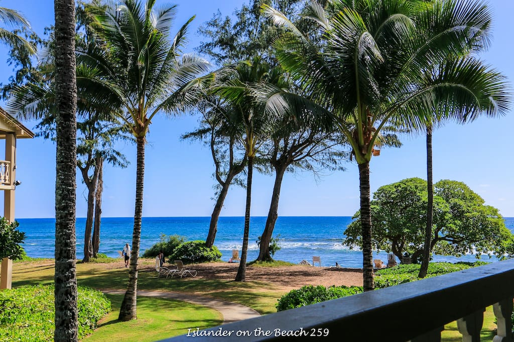 Amazing ocean view from Kapaa Condos.