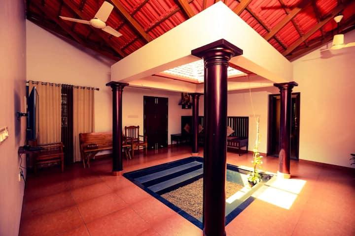 Kerala style 2 bed entire villa  in heart of city
