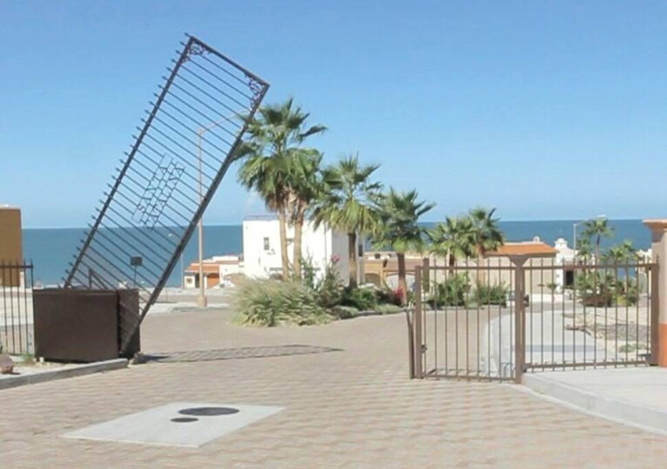 Gate entering Santa Catalina community