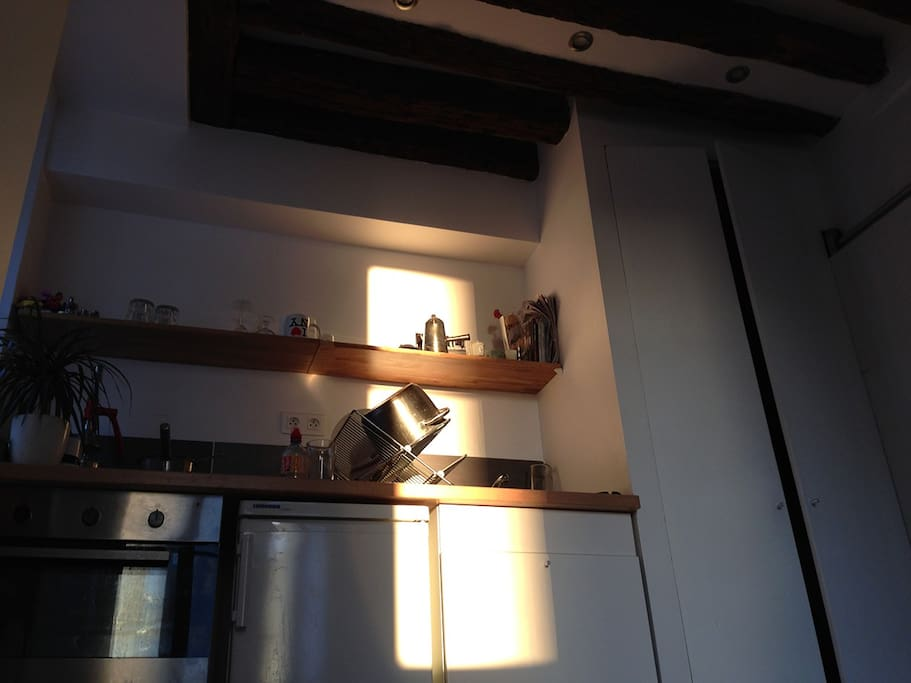 —functional kitchenette (fridge/ cermic glass cooktop / oven ...)