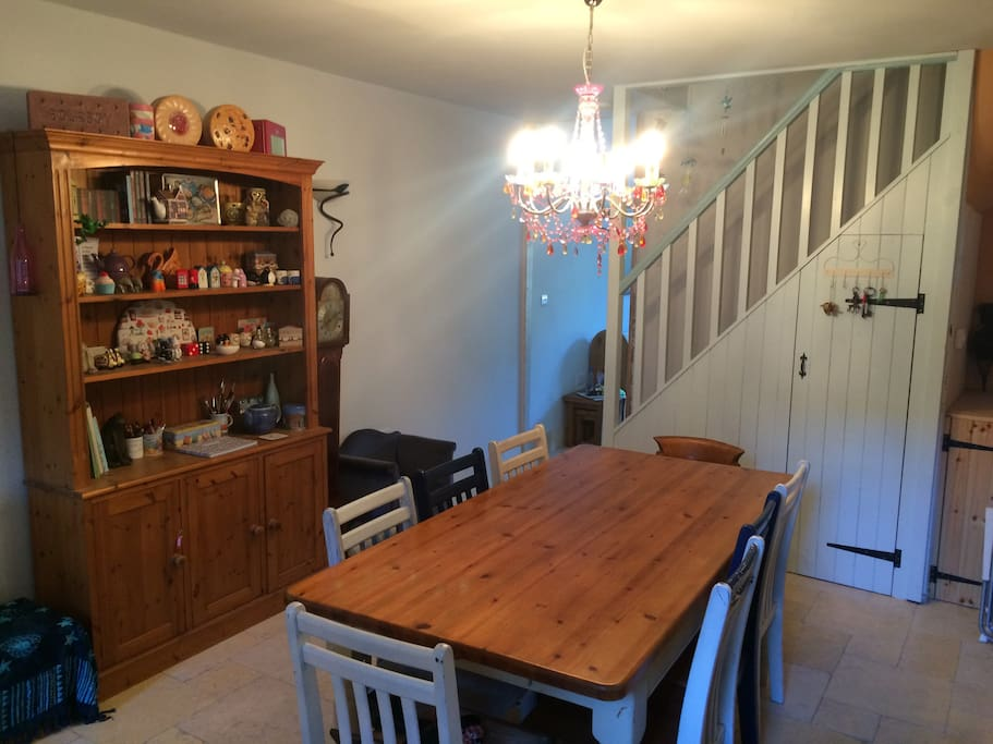 dining table seats 8-10 comfortably