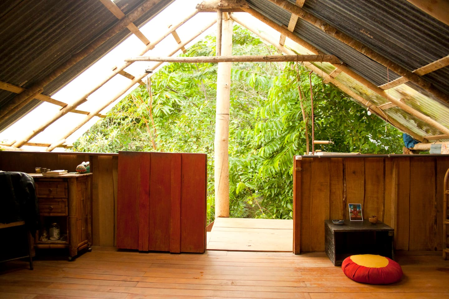 Ready to wake up in paradise? Jungle Suite is a private double room with shared compost toilet and shower, located in a vibrant permaculture farm.