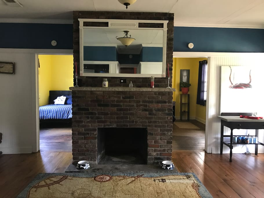 Fireplace (not functional, sorry) and our two other guest bedrooms