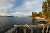 Expansive lake views.
