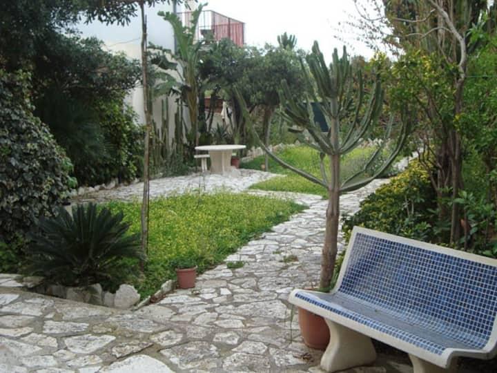 Gardenia, villa with a garden close to the beach