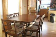 Lower Cabin inside dining