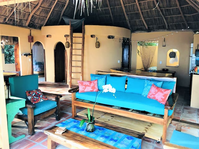 Large Secluded Oceanside Jungle Palapa